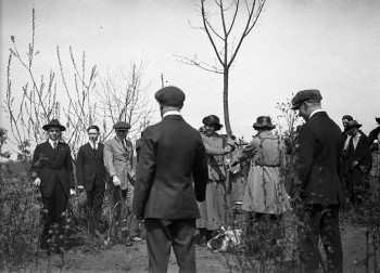Tree-planting ceremonies from the university's early years. (Images from George Van Wilby fonds, UBC Library Archives)
