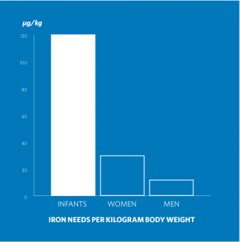 Iron Needs Per KG Body Weight