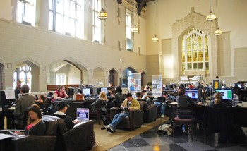 Today's library: the Chapman Learning Commons in the Ike Barber Learning Centre. Photo courtesy UBC Library.
