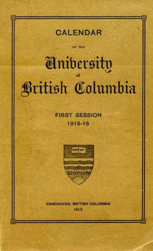 Copies of UBC's first calendar disappeared as quickly as they were produced.