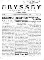 A new publication is born: 1918 saw the first issue of the Ubyssey.