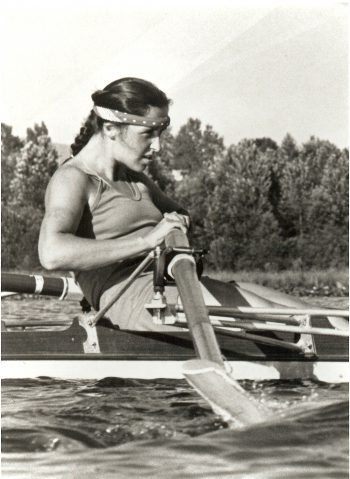 Tricia Smith competed in rowing during the era when East German athletes were suspected of using Performance Enhancing Drugs.