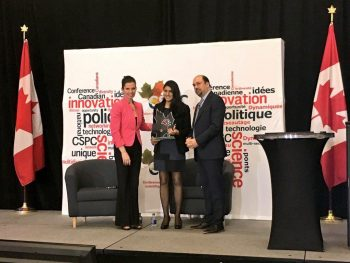 Last year, Saini was recognized by the Canadian Science Policy Centre