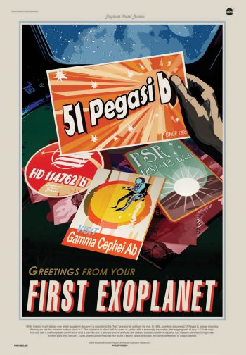 THE FIRST EXOPLANET: Future travel posters and postcards may feature the planets 51 Pegasi b (reported in 1995) or PSR 1257+12 b, c and d (reported in 1992) as the first planets found outside the Solar System. HD 114762 b (reported in 1989) is another contender. But the first detection of an exoplanet was made by Canadians, including UBC professor Gordon Walker, in 1988. Image credit: Jet Propulsion Laboratory (NASA/Caltech)