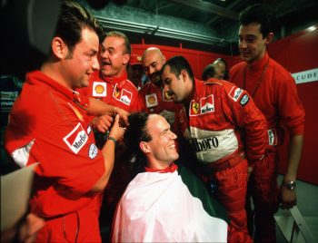 In 2000, Short made a bet with Ferrari mechanics that they could get rid of his long hair if they won the championship…