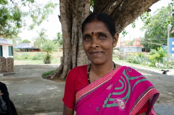 Yashodamma is a member of the village council, which was consulted on the project. (Photo: Alia Dharssi)