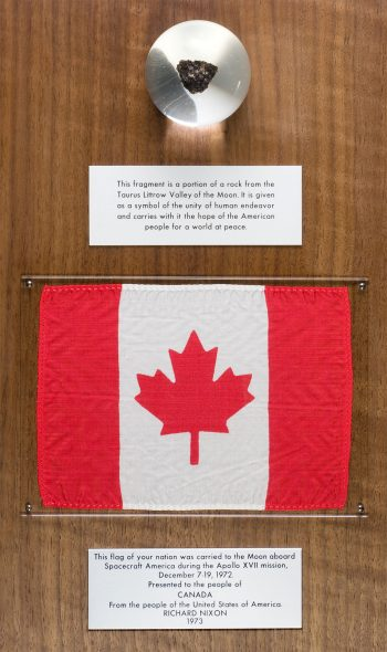 Canada's portion of the Goodwill Rock. The inscription reads: 