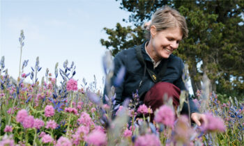 Tara Martin photographs wildflowers in the Gulf and San Juan islands. (Photo: Stasia Garraway)